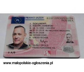Legalne kolekcjonerskie prawo jazdy